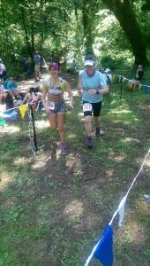 Ana Lu and I in the finisher's chute.  Photo credit to Josh Gum.